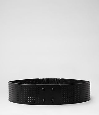 Womens Cufflink Belt (Black Perforated)