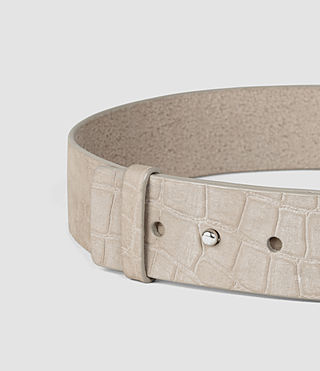 Women's Mimosa Croc Leather Waist Belt (Light Grey) - product_image_alt_text_2