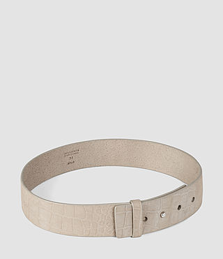 Women's Mimosa Croc Leather Waist Belt (Light Grey) - product_image_alt_text_4