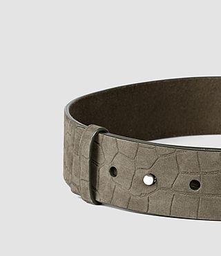 Womens Mimosa Croco Waist Belt (Dark Khaki) - product_image_alt_text_3