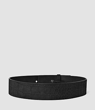 Mujer Mimosa Croco Waist Belt (Black) - product_image_alt_text_2