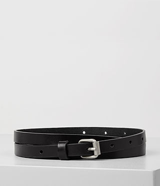 Women's Bale Leather Waist Belt (Black)
