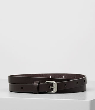 Women's Bale Leather Waist Belt (Ebony)
