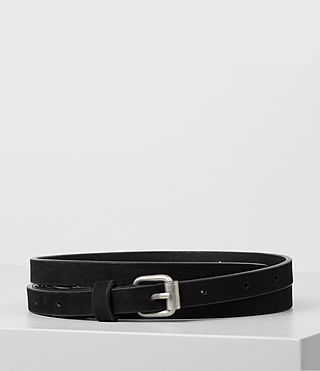 Women's Bale Nubuck Waist Belt (Black)