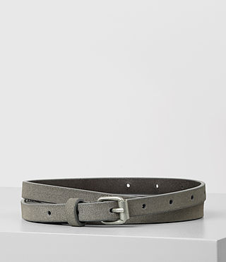 Women's Bale Suede Waist Belt (Mid Grey)