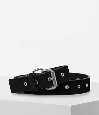 Womens Ezra Nubuck Waist Belt (Black)