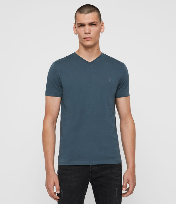 T-shirt Tonic - Slim in cotone con scollo a V