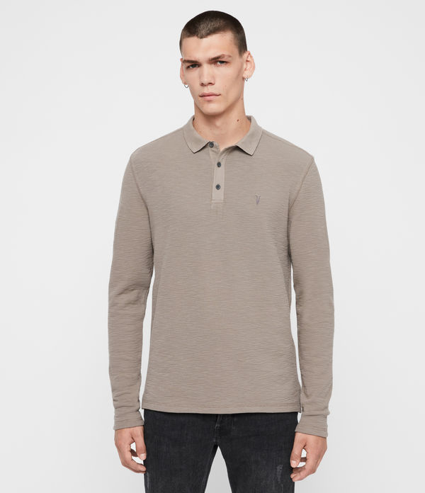 Polo Muse - Slim in cotone a maniche lunghe