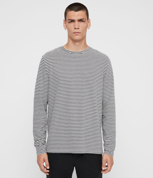 Neal Stripe Long Sleeve Crew T-Shirt