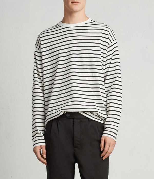 Kleve Stripe Long Sleeve Crew T-Shirt