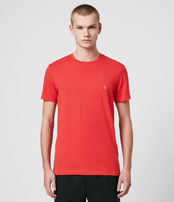 ALLSAINTS STRIPED TONIC CREW BLACK RED BLUE WHITE T-SHIRT 2PACK
