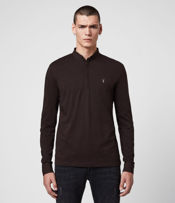 Polo Grail - Slim in cotone a maniche lunghe