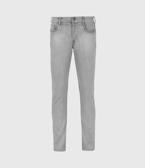 Cigarette Skinny Jeans, Light Grey
