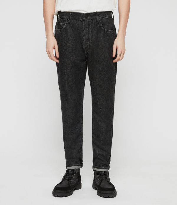 Ridge Tapered Jeans, Washed Black