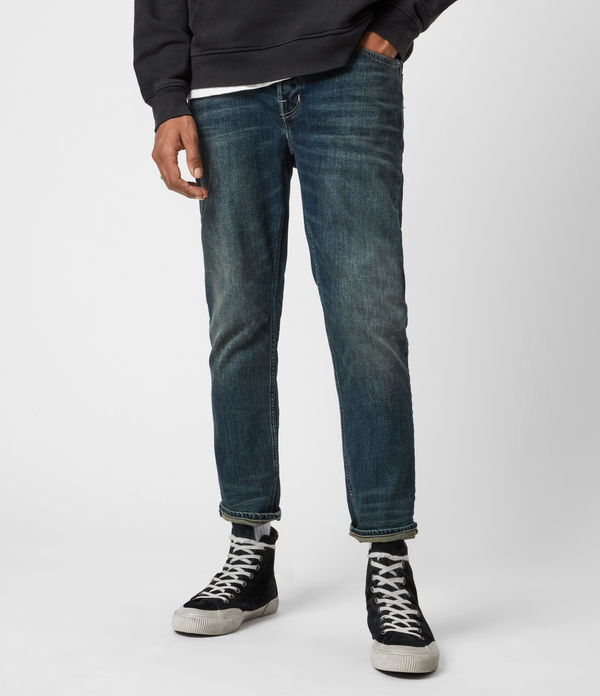 Dean Cropped Slim Jeans, Dirty Indigo