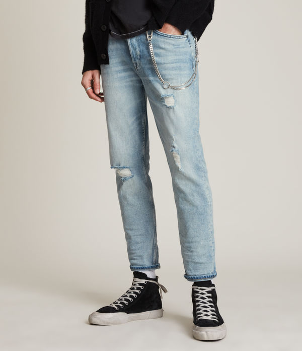 jack damaged straight jeans, light indigo