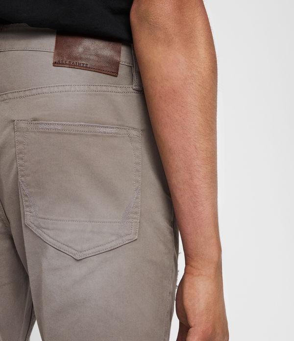 Rex Twill Damaged Slim Jeans, Flint Grey
