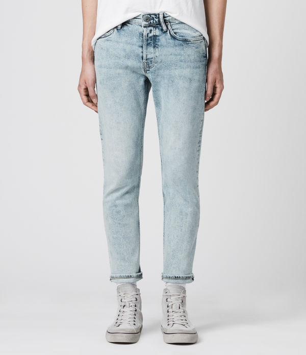 Dean Cropped Slim Jeans, Light Indigo