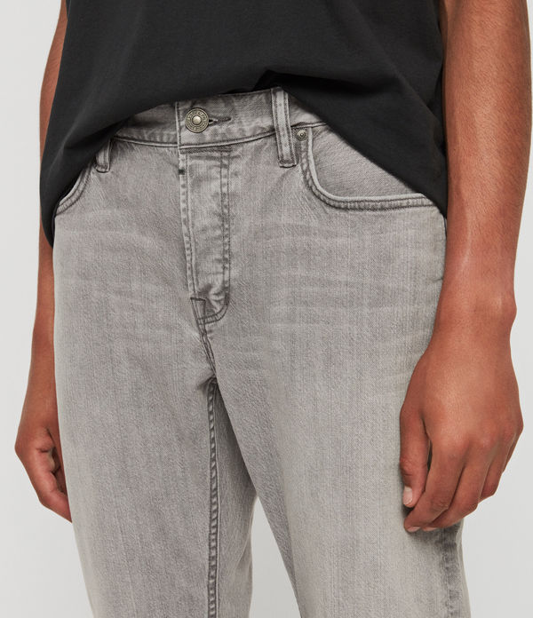 Carter Straight Jeans, Mid Grey