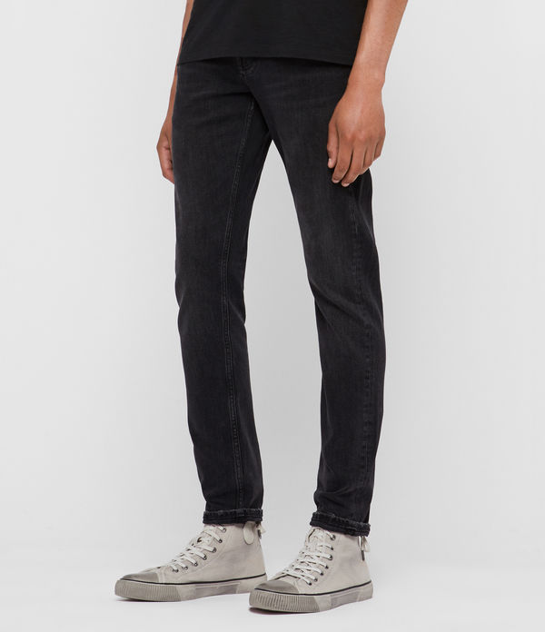 Jeans Rex Slim Damaged, Negro lavado
