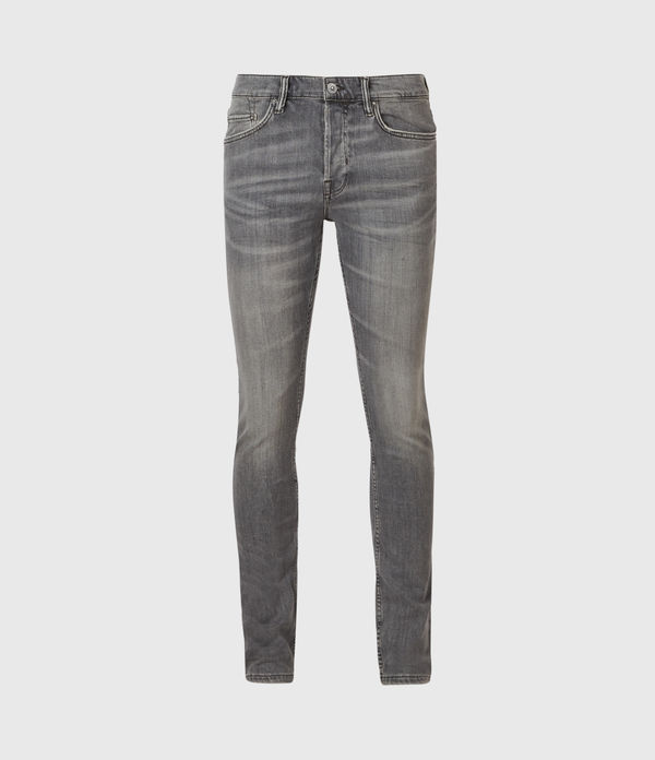 Cigarette Skinny Jeans, Mid Grey