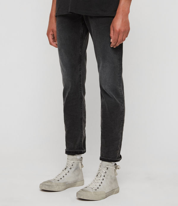 Carter Straight Jeans, Washed Black
