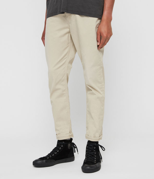Ridge Twill Tapered Jeans, Barley Taupe