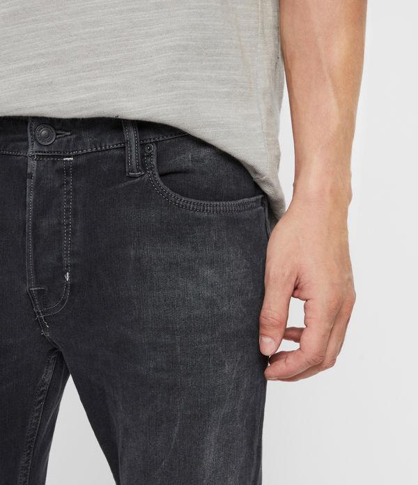Cigarette Skinny Jeans, Washed Black
