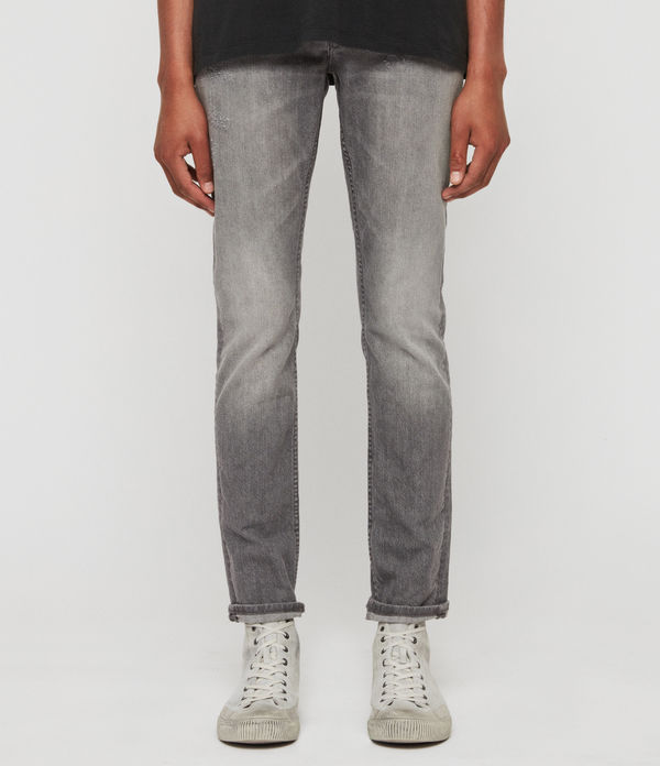 Rex Damaged Slim Jeans, Grey