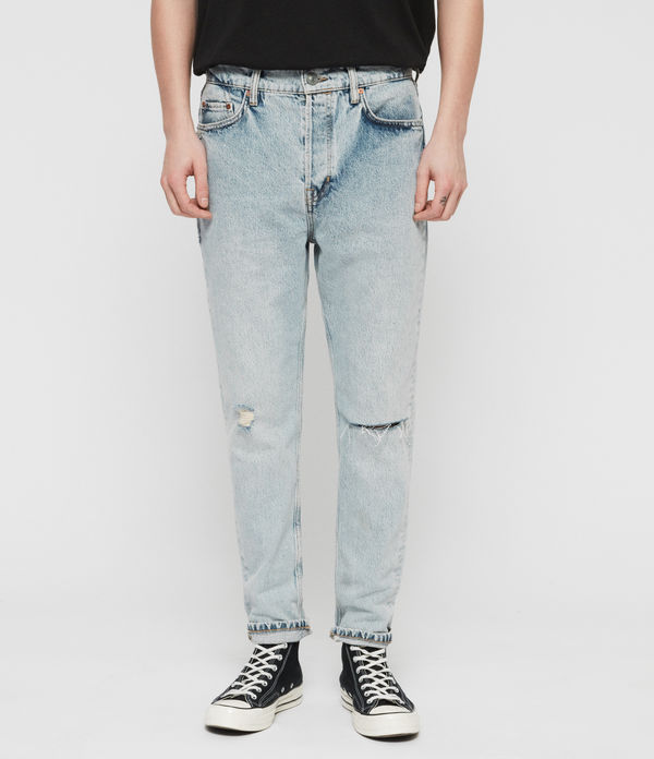 Ridge Tapered Damaged Jeans