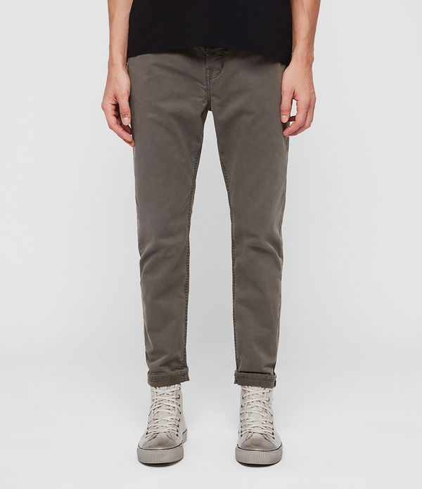 Ridge Twill Tapered Jeans, Khaki