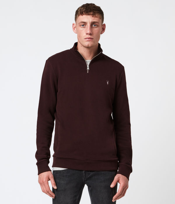 Raven Half Zip Funnel Neck Sweatshirt