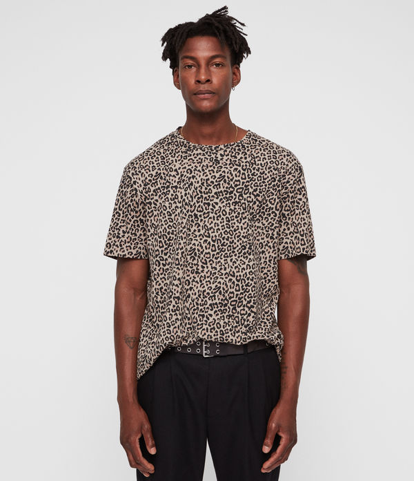 leopard two tone t-shirt