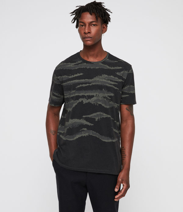 brushed camo crew t-shirt