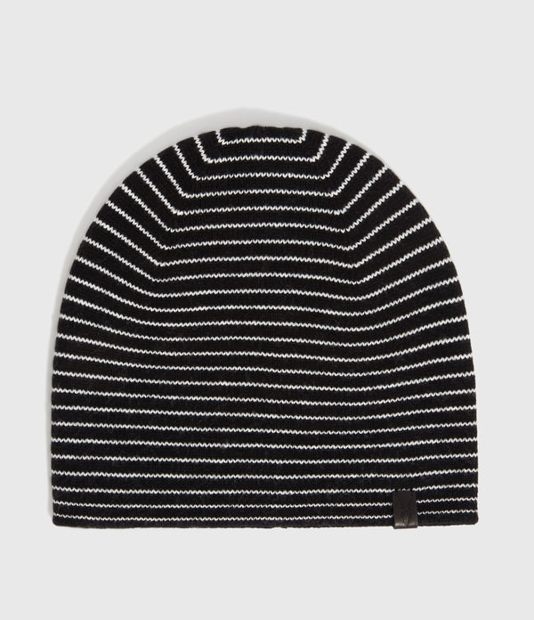 Reversible Stripe Cashmere Blend Beanie