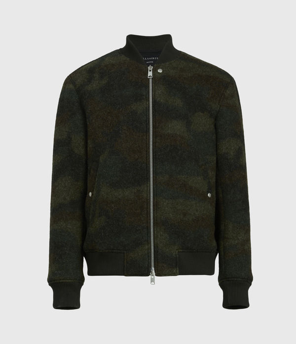 Bastion Wool Blend Bomber Jacket