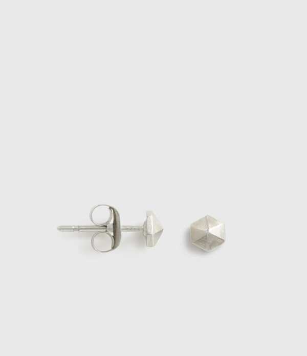 Hexstud Sterling Silver Earrings