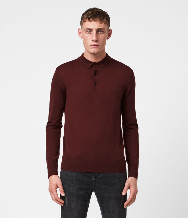 Mode Merino Long Sleeve Polo Shirt