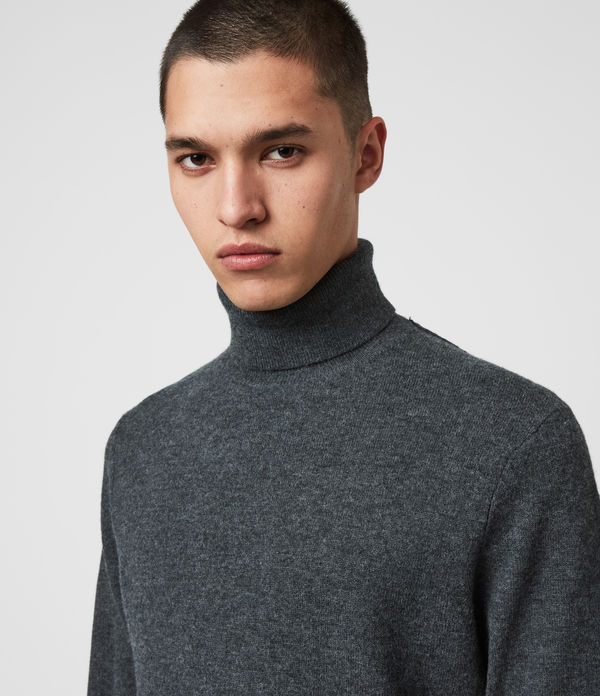 Glen Roll Neck Sweater