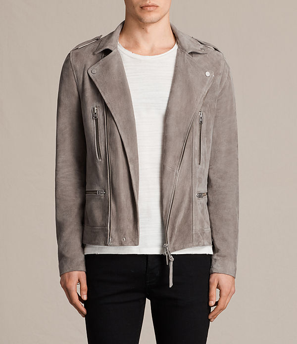 kit suede biker jacket