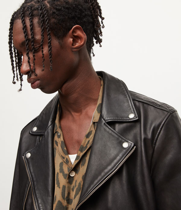 Wick Leather Biker Jacket