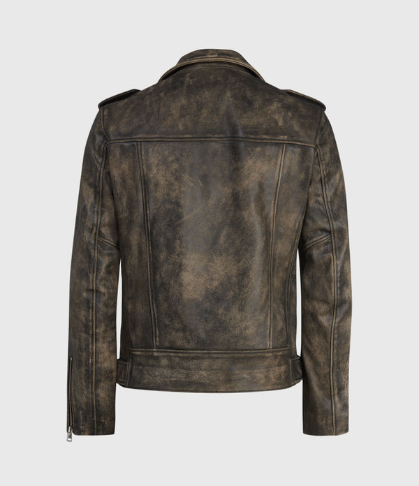 Dunstan Leather Biker Jacket