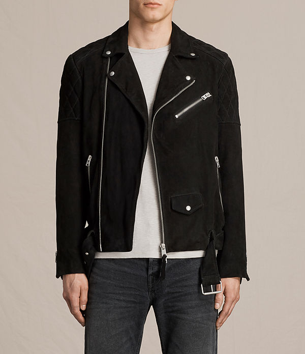 bonson suede biker jacket