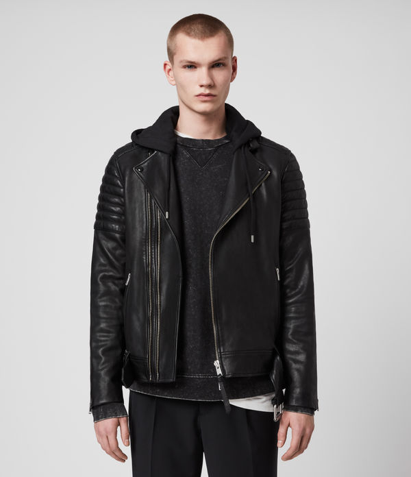 cobden leather biker jacket
