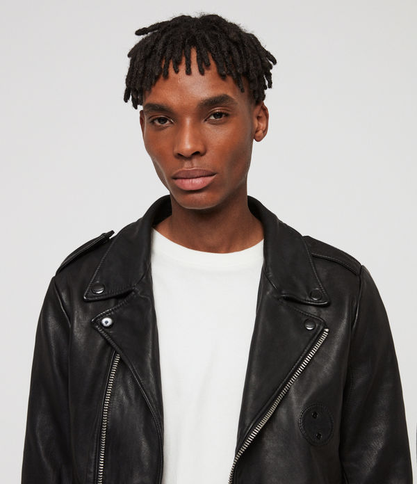 Woodley Leather Biker Jacket
