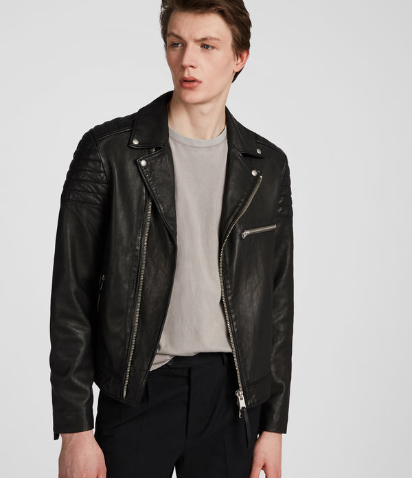 Callahan Leather Biker Jacket