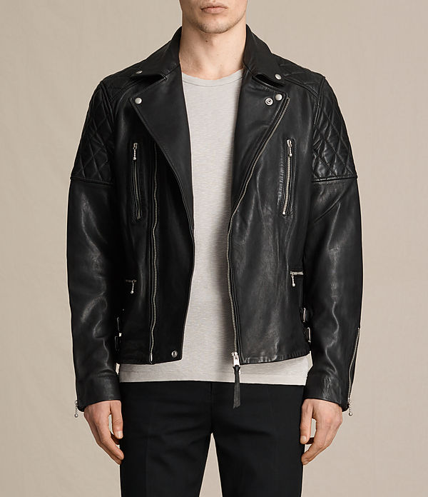 yuku leather biker jacket