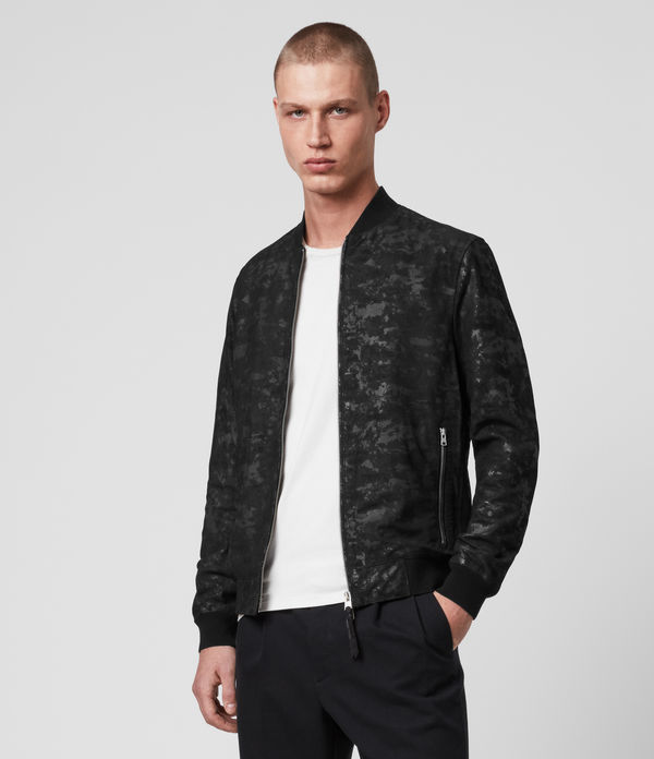 Kirk Leather Bomber Jacket