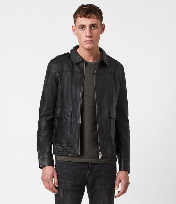 Mack Leather Aviator Jacket