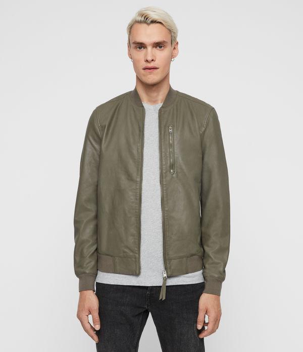 Kino Leather Bomber Jacket